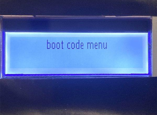 boot code menu