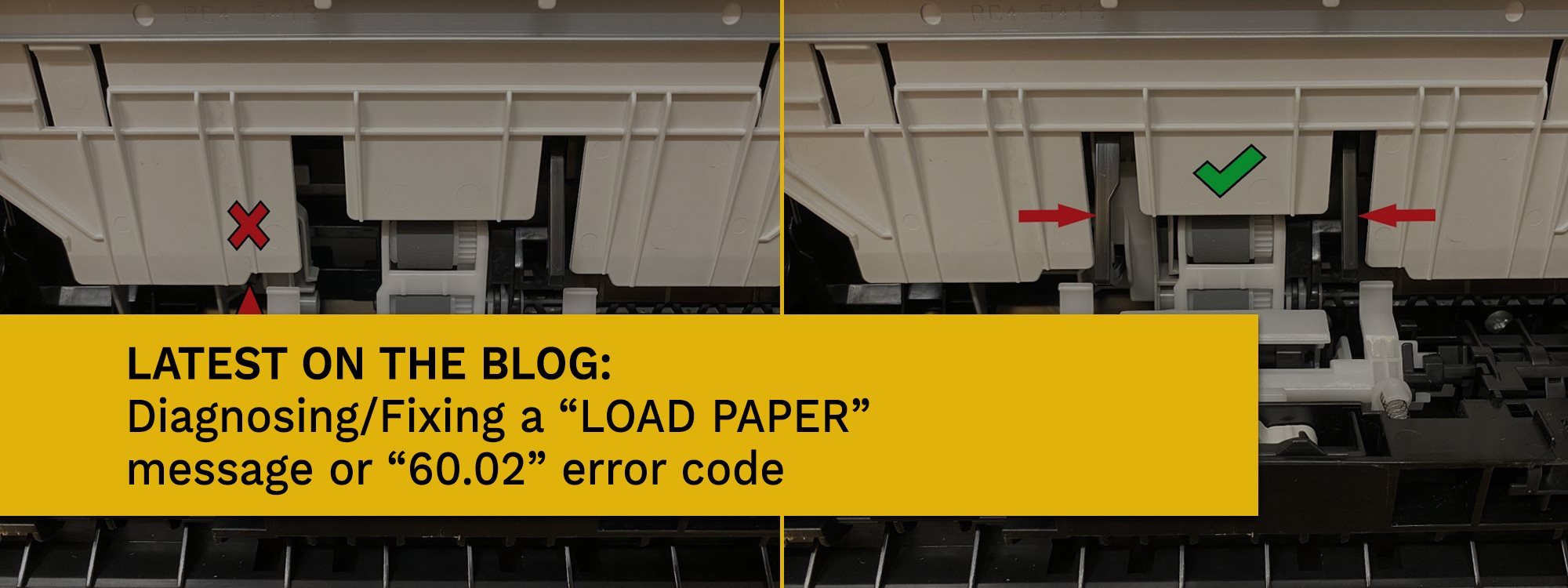 Check out latest blog HP Load Paper or 60.02 code