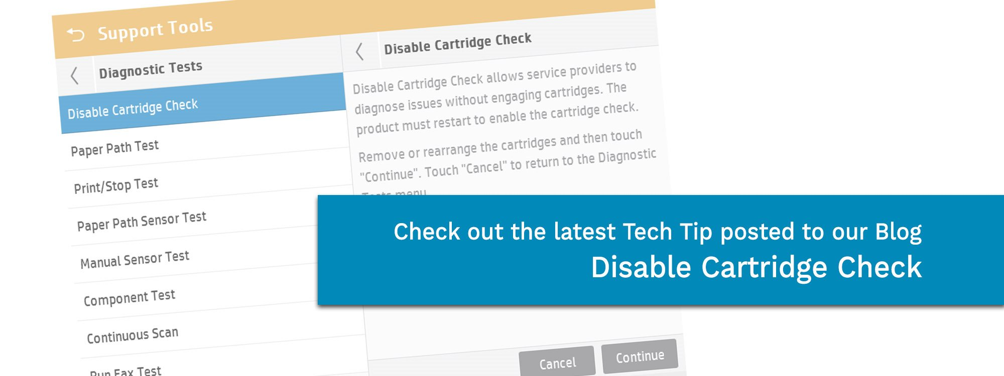 Check out our latest blog disable cartridge check