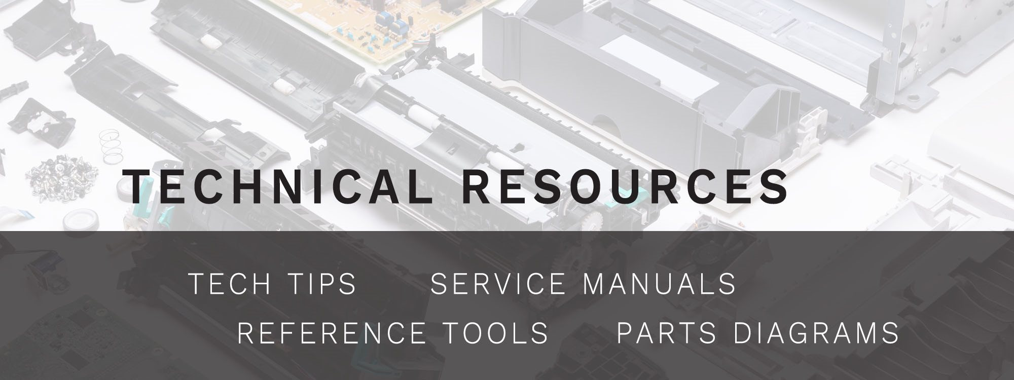 Tech Tips, Reference Tools, Service Manuals, Parts Diagrams